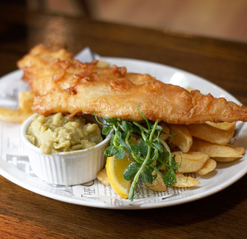 A great shot of the best Fish and Chips in Macclesfield